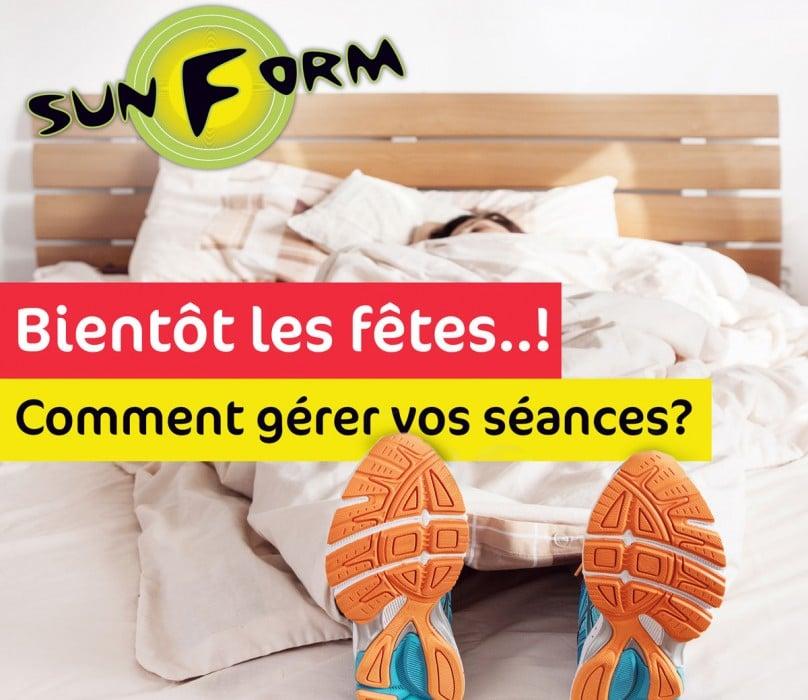 LES FÊTES DE FIN D'ANNÉE ARRIVENT, COMMENT GÉRER VOS SÉANCES DE SPORT ?