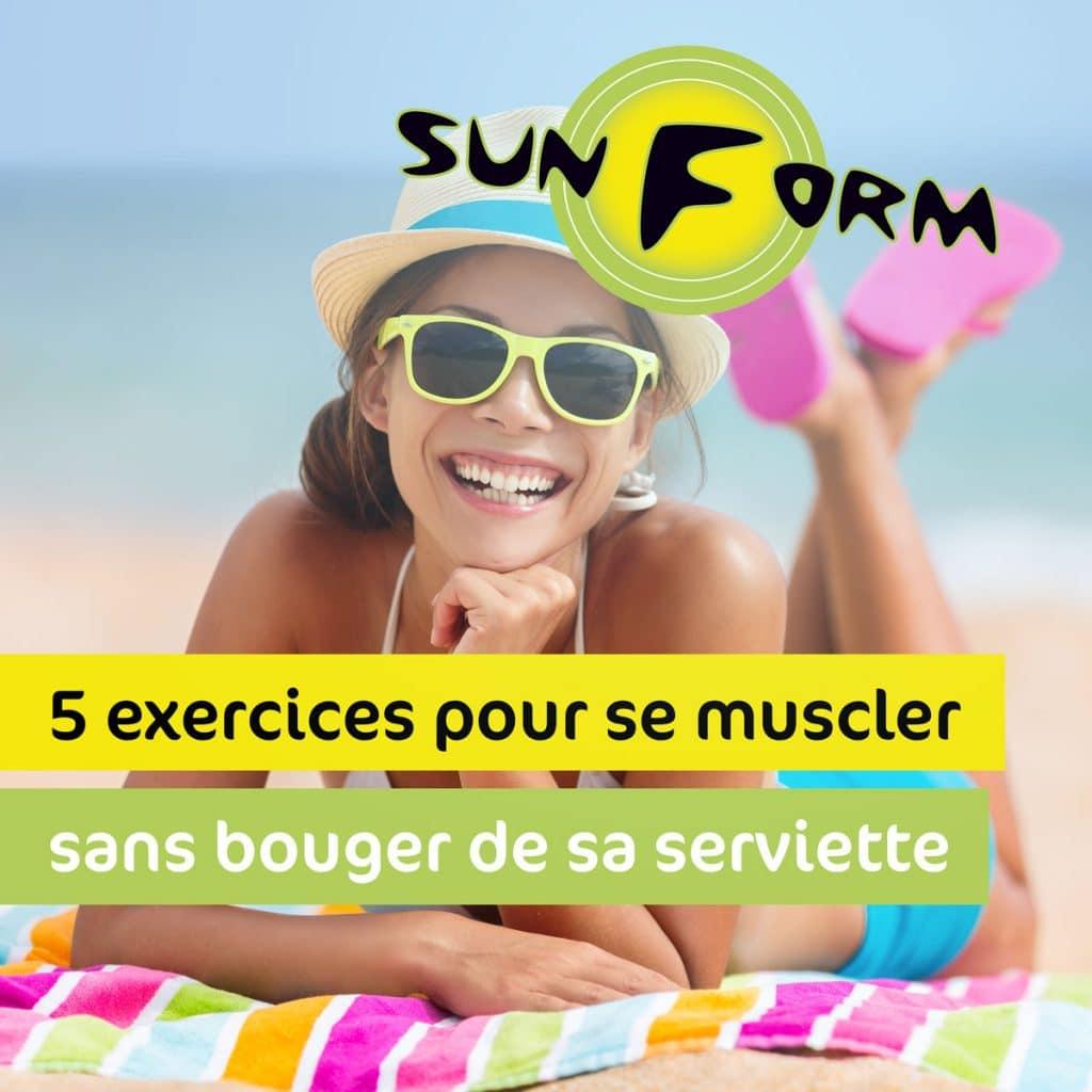 5 exercices pour se muscler sans bouger de sa serviette de plage !